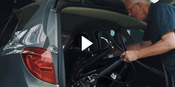 Uw NRGbike loopfiets kan met het grootste gemak vervoerd worden