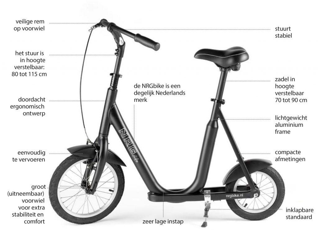 De NRGbike, de loopfiets voor volwassenen, folderafbeelding